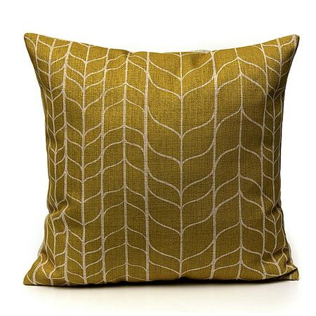 bde87a13765b Meigar Vintage Flower Geometric Throw Pillow Cushion Cover 18  x18   Cotton  Linen Standard Decorative Pillowcase Pillowslip Pillow protector Case for  Sofa ...