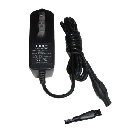 Norelco Charging Cord (HQRP AC Adapter / Power Cord compatible with Philips Norelco 8170XLCC, 8171XL, 8240XL, 8250XL, 8251XL, 8260XL Razor / Shaver plus Cleaning Brush )