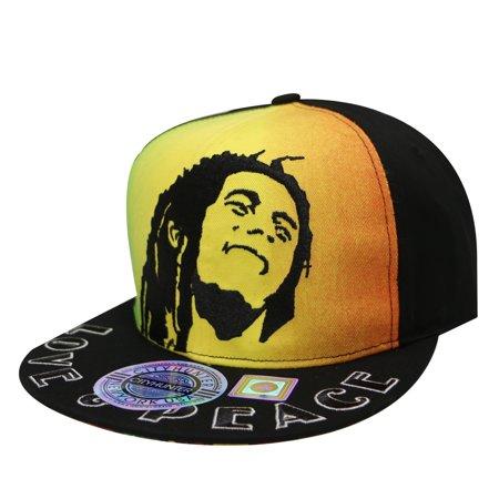 ab8ee99a147dd City Hunter Cf2480 Rasta Love and Peach Bob Marley Snapback Cap ...