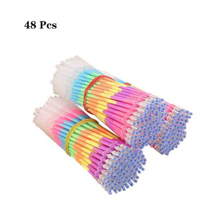 48Pcs Pen Refills Multi-color Rainbow 0.5mm School Office Supplies Highlighter Pen Core - Rainbow Pens