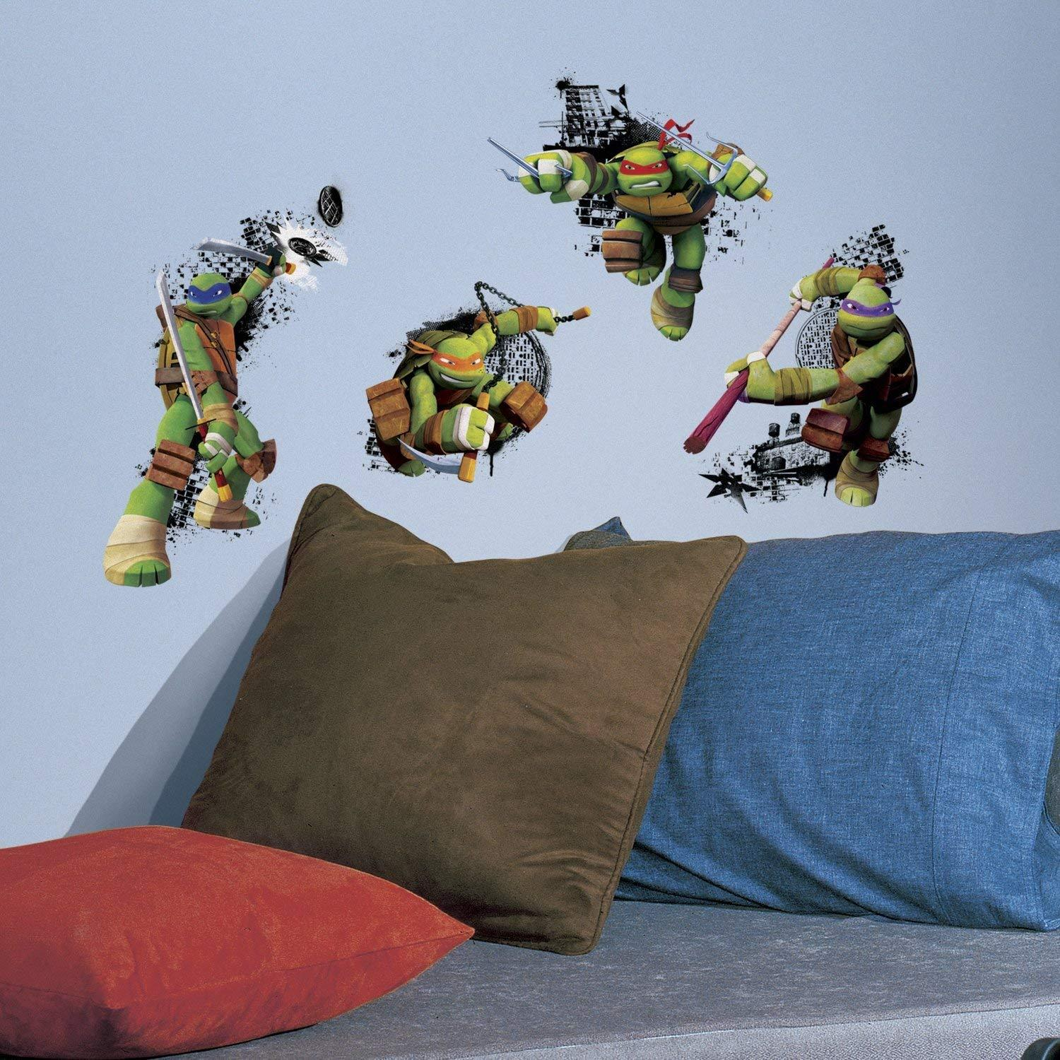 wall Decal stickers Personalised TMNT bottle// ipad