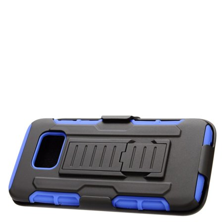 Insten Stand Dual Layer Hybrid Case with Holster For Samsung Galaxy S7 Edge - Black/Blue - image 4 de 4