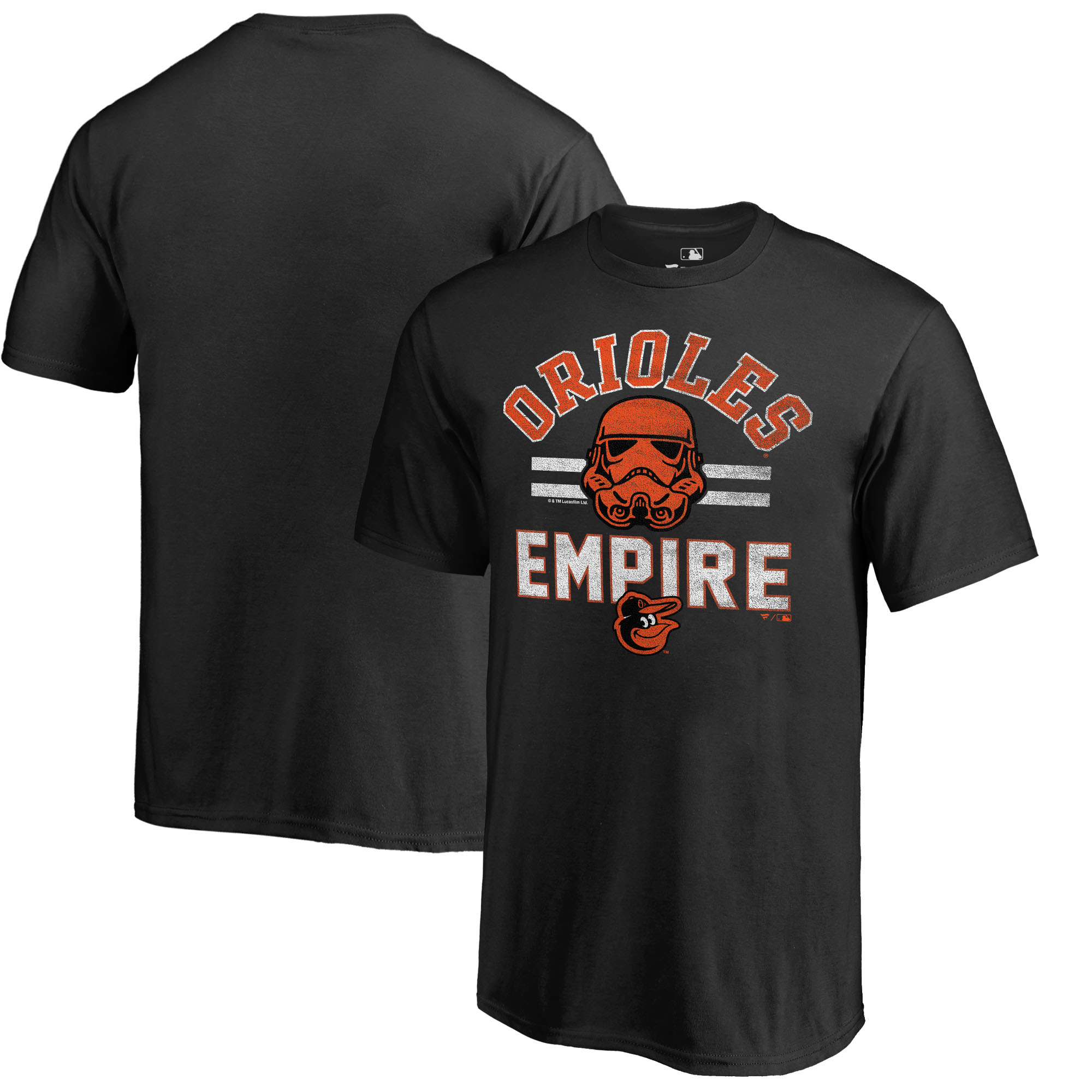 Baltimore Orioles Fanatics Branded Youth MLB Star Wars Empire T-Shirt - Black