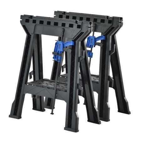 Heavy Duty Folding Sawhorses 1,200 lb Capacity, 2