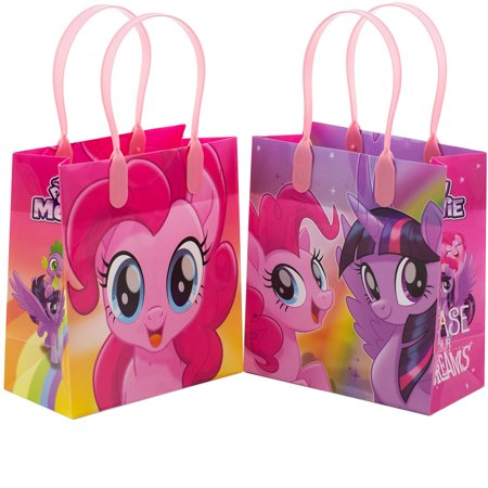 My Little Pony Party Bag Fillers (Little Pony Chase Your Dreams 12 Reusable Party Favors Small Goodie Gift Bags)