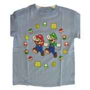 Boys Light Blue Character Sign Print T-Shirt 8-12