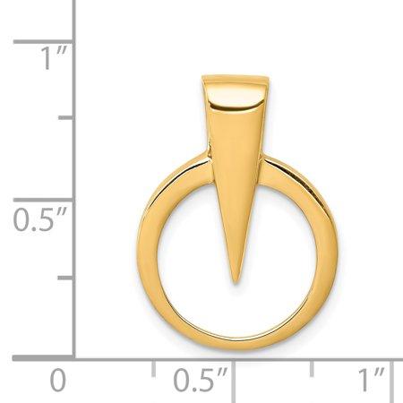 14K Yellow Gold Fits up to 2mm on Fancy/Regular/Reversible Omega Slide - image 1 de 2