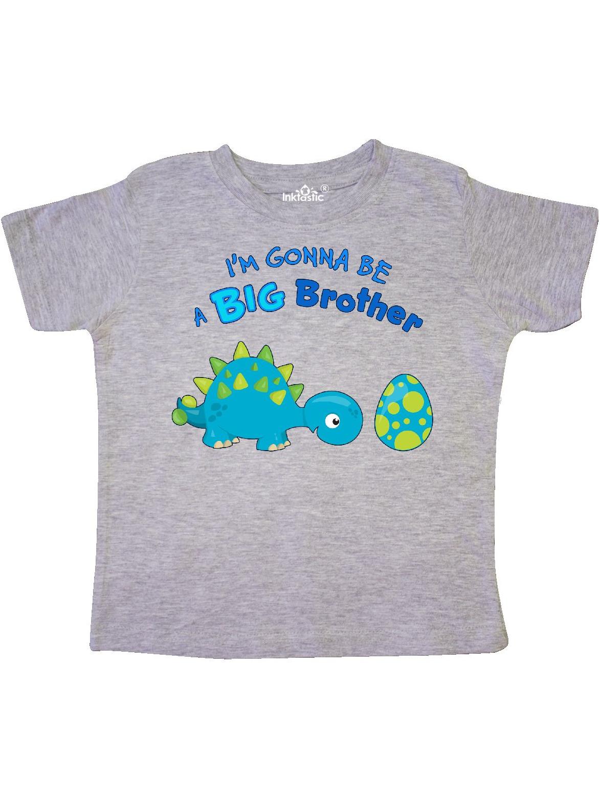 Happy Dinosaur Future Big Brother Toddler T-Shirt