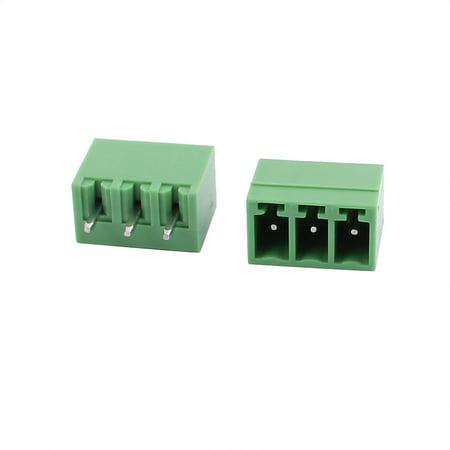 50Pcs AC300V 8A 3 81mm Pitch 3P Straight Needle Plug-In PCB Terminal