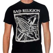 Kings Road KRM-10028998-L Bad Religion Against the Grain Black T-Shirt - Black - Large