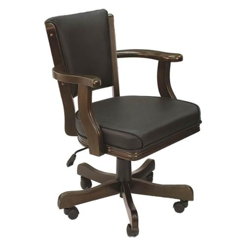 Swivel Game Chair in Cappuccino Finish