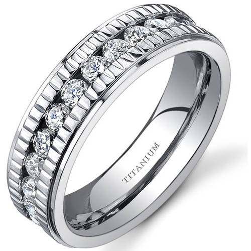 Oravo 6.0mm Women's Titanium Wedding Band Ring