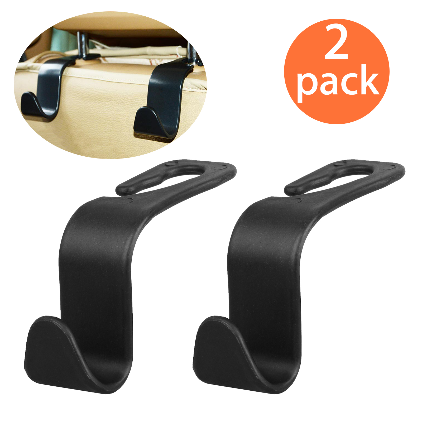 1Pcs Universal Car Hanger Bag Organizer Hook Seat Headrest Holder For Groceries