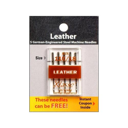 Klasse Leather Machine Needles-110/18 5/Pkg