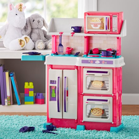 Spark. Create. Imagine. Pink Kitchen Toy Play Set, 18 Pieces ()