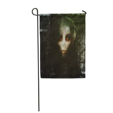 JSDART Monster Horror Scary Vampire Spooky Abstract Anxiety Garden Flag Decorative Flag House Banner 12x18 inch - image 1 de 1