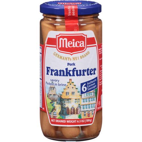 Meica Pork Frankfurters, 6.3 oz, (Pack of 12) by Generic