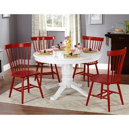 Kale 5-piece White/ Red Dining Set ()