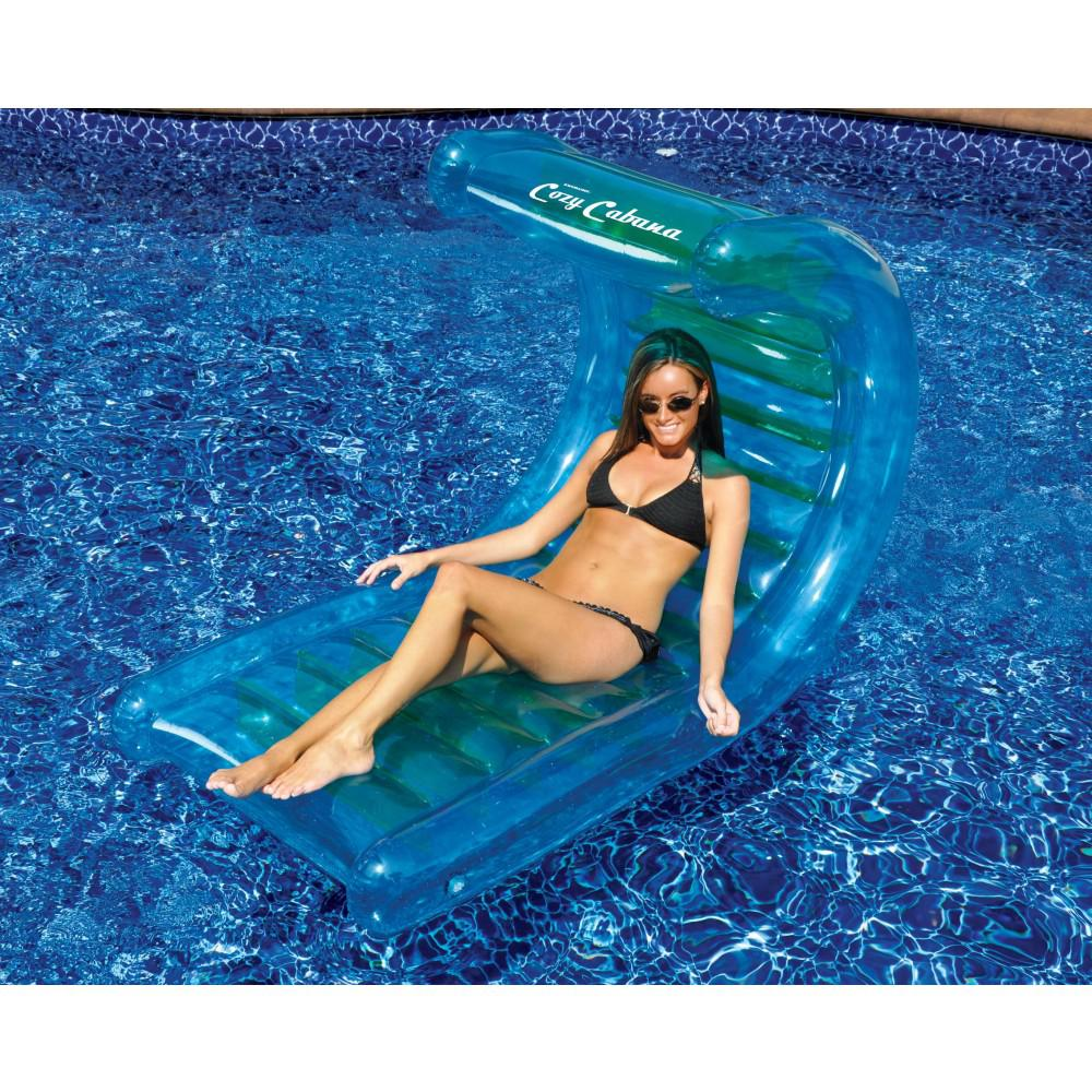 "Swimline Cozy Cabana 56"" Inflatable Pool Lounger"