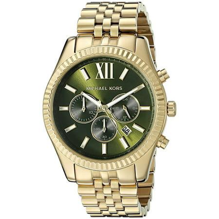 - Men's Lexington Gold Tone Steel Chronograph Watch MK8446