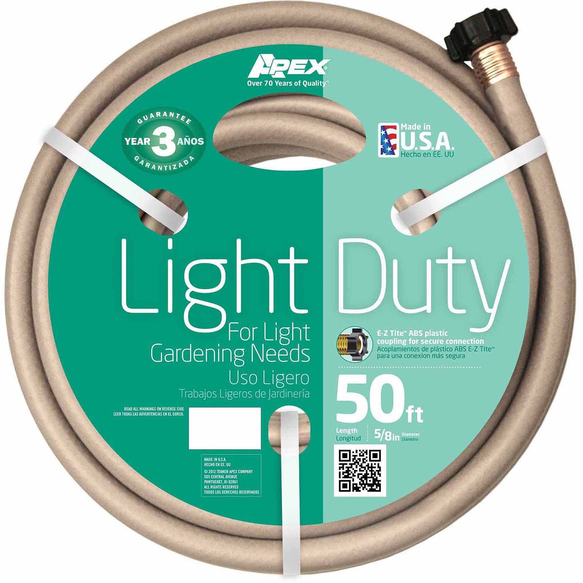 "Teknor Apex 8400-50 5/8"" x 50' Light Duty Garden Hose"
