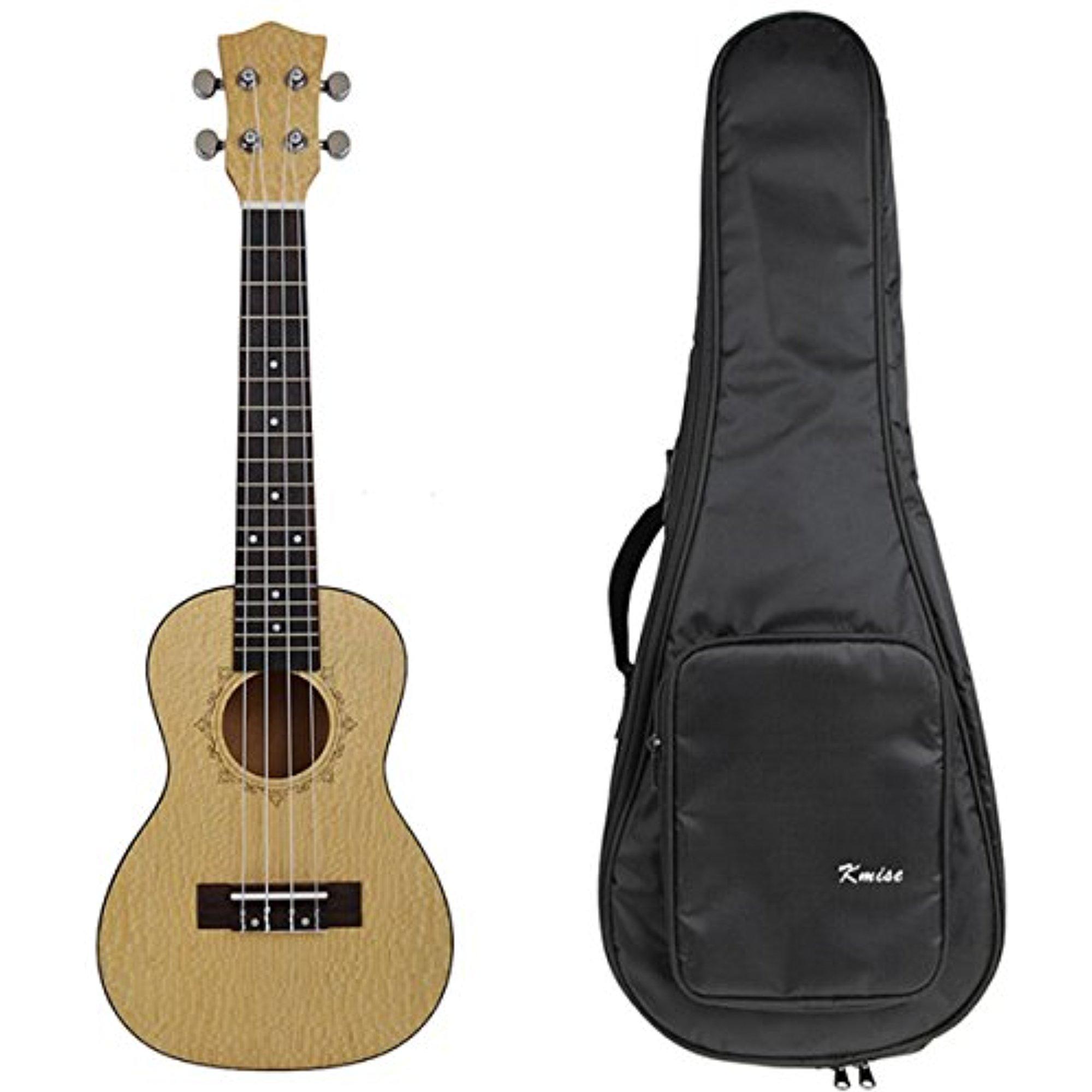 Kmise Professional 23 Inch Concert Ukulele Uke Hawaii Guitar Pearl Wood 18 Fret W Bag by Kmise