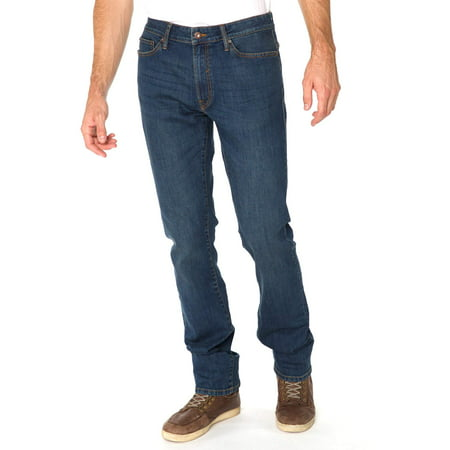Men's Straight Fit Jeans with Stretch