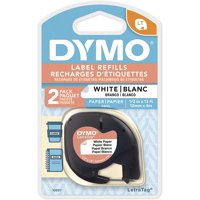 "LetraTag Electronic Label Maker Refill Tape, 1/2"", 2 Count"