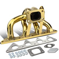 For 1992 to 1996 Honda Prelude Anodized Stainless Steel 42mm T3 Bottom Mount Exhaust Turbo Manifold H23 Engines