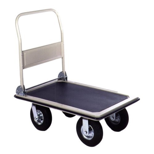 Wesco Folding Platform Cart with 8 Inch Pneumatic Wheels