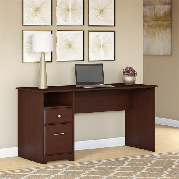 Scranton & Co 60W Computer Desk with Drawers in Harvest Cherry
