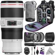 Canon EF 70-200mm f/4L IS II USM Lens w/ Advanced Photo and Travel Bundle