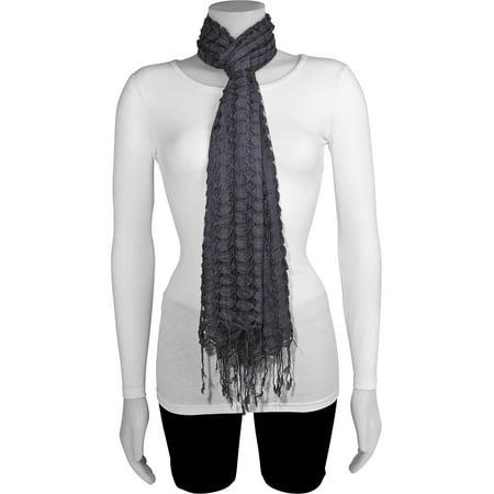 Charcoal Grey Fashion Scarf (68x20mm)