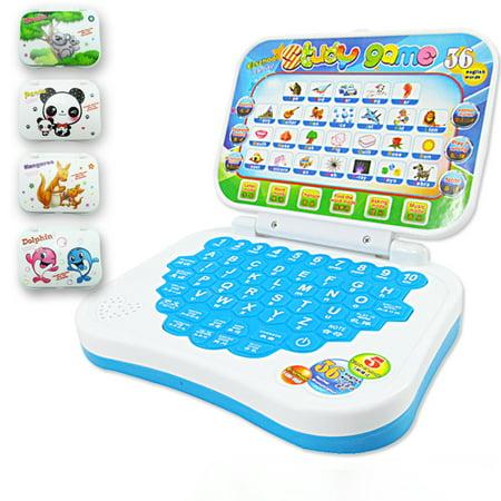 GlowSol Multifunction Language Learning Machine Kids Laptop Toy Early Educational Computer Tablet Reading Machine