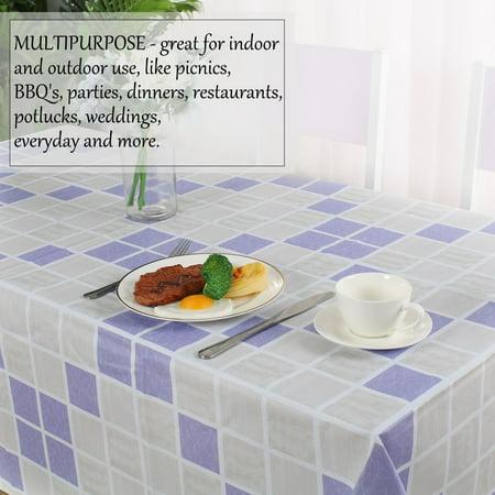 "Tablecloth PVC Oil Stain Resistant Plaid Pattern for Rectangle Table 54""x71"",#8 - image 1 de 7"