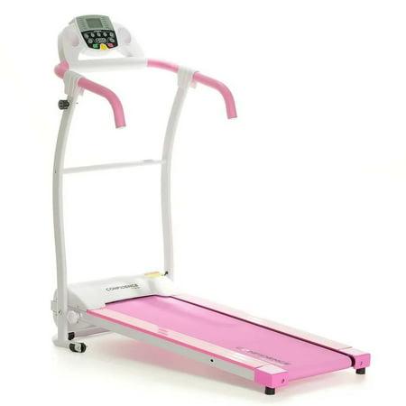 Confidence TP-1 Electric Treadmill Folding Motorised Running Machine Pink