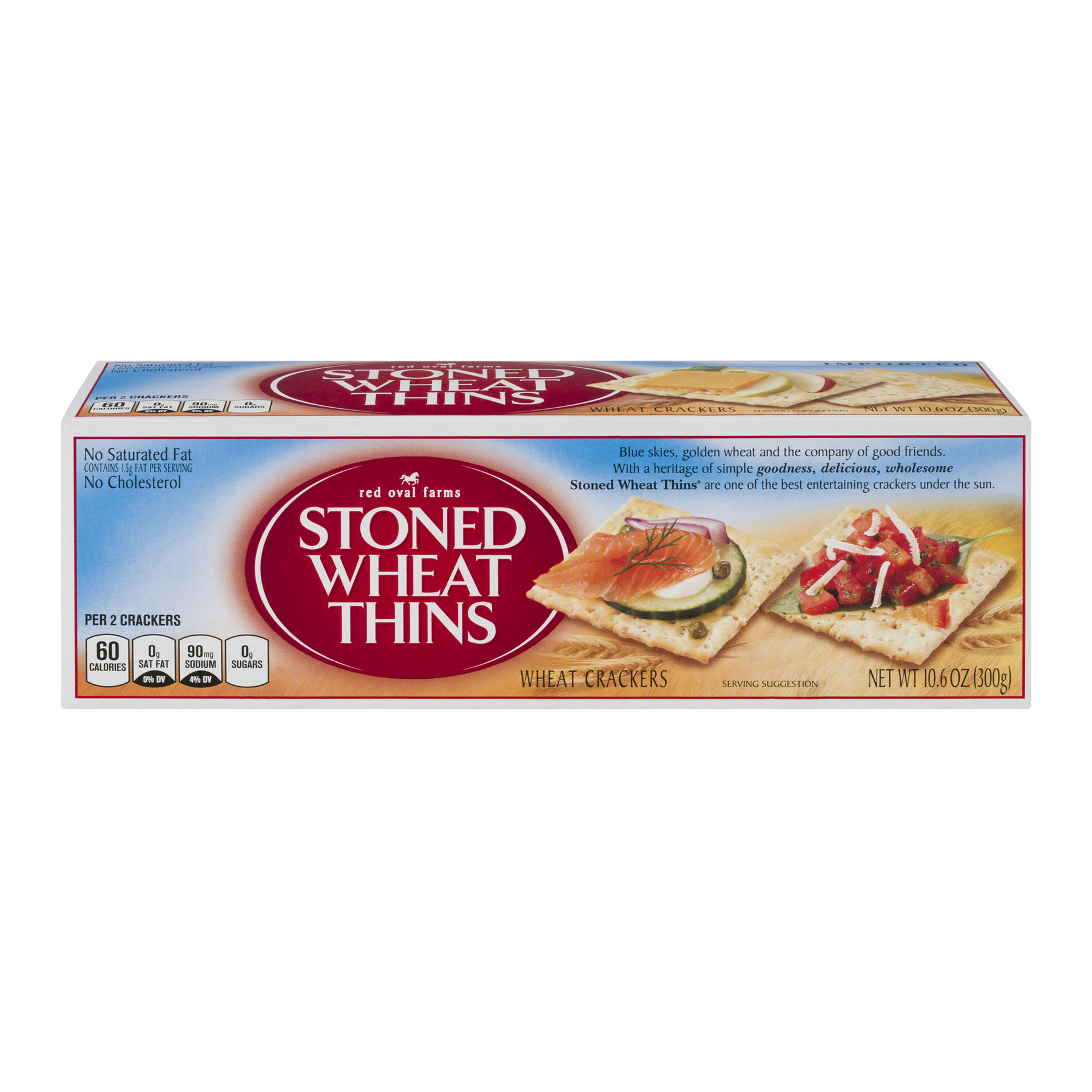 Red Oval Farms Stoned Wheat Thins Snack Crackers, 10.6 OZ