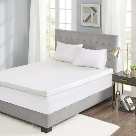 "Comfort Classics 3"" Gel Memory Foam Mattress Topper with Cooling Cover"