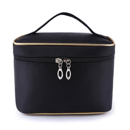 9b6b372fc493 Large Capacity Makeup and Toiletry Bag Tote with Felt Insert ...