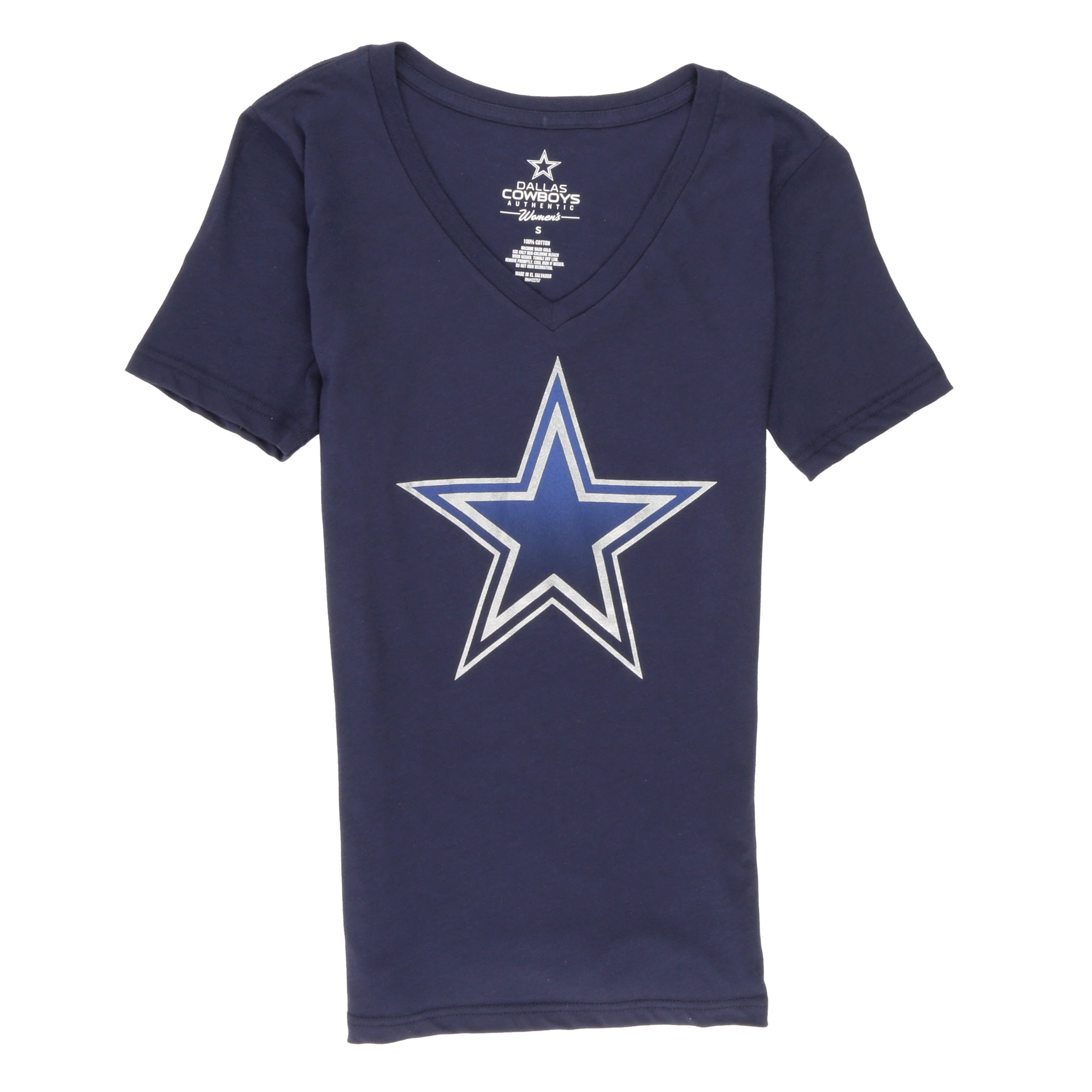 NFL Dallas Cowboys Women's Maisie V Neck Short Sleeve Tee Shirt