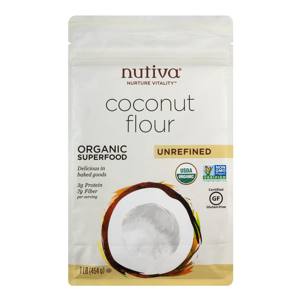 Nutiva Coconut Flour Unrefined, 1.0 LB