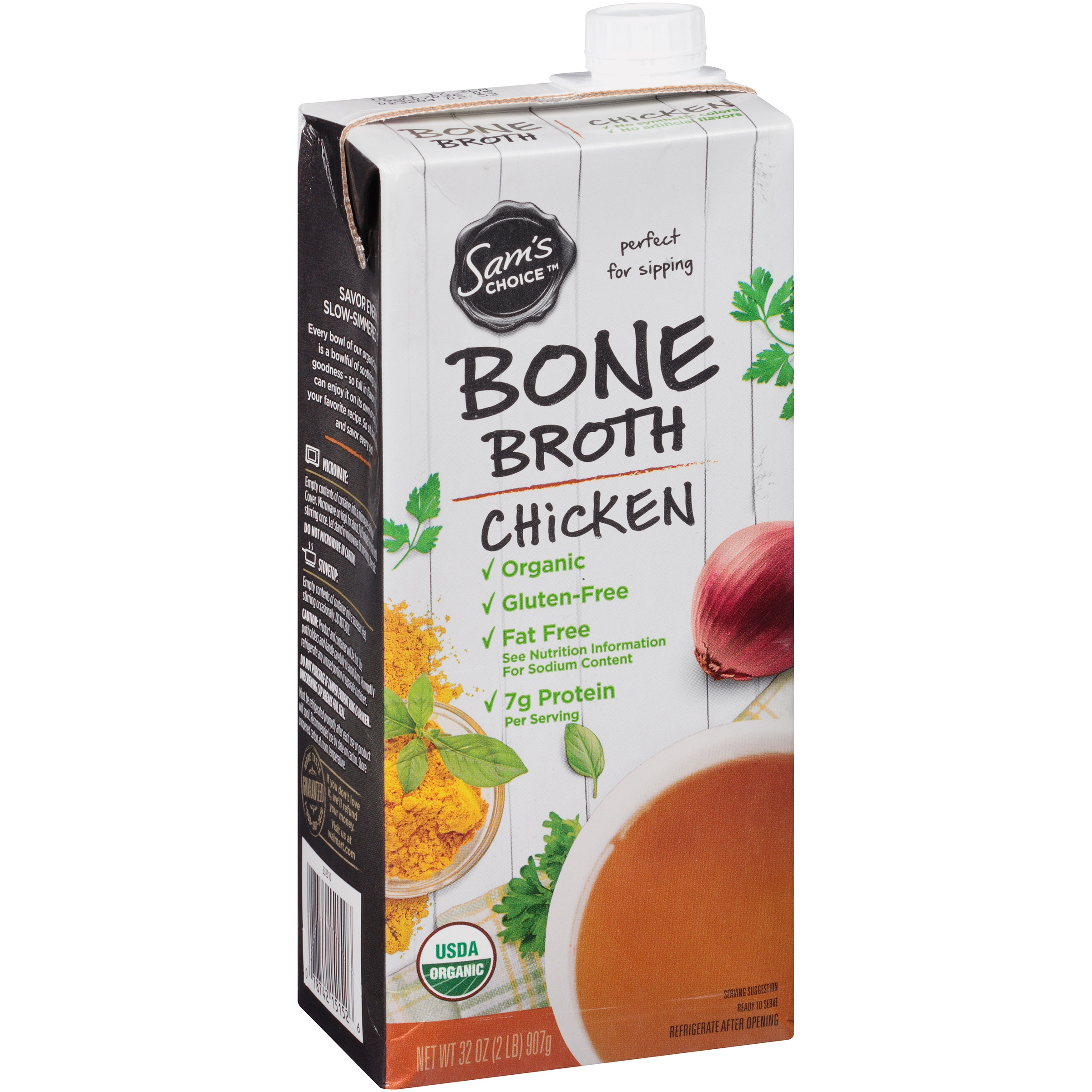 Sam's Choice Organic Chicken Bone Broth, 32 oz