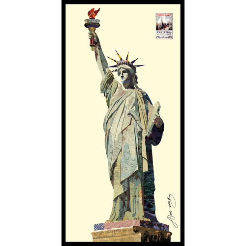 Click here to buy Empire Art Direct Lady Liberty Dimensional Collage Hand Signed by Alex Zeng Framed Graphic... by Empire Art Direct.