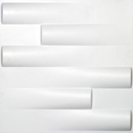 "Ekena Millwork 19 5/8""W x 19 5/8""H Hamilton EnduraWall Decorative 3D Wall Panel, White"
