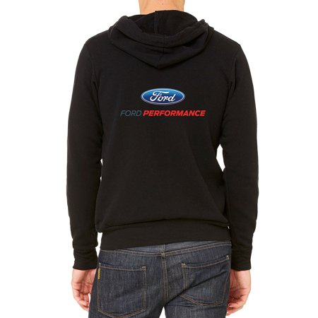 Men's Ford Performance C9 Black Fleece Zipper Hoodie Large Black Printed Performance Fleece