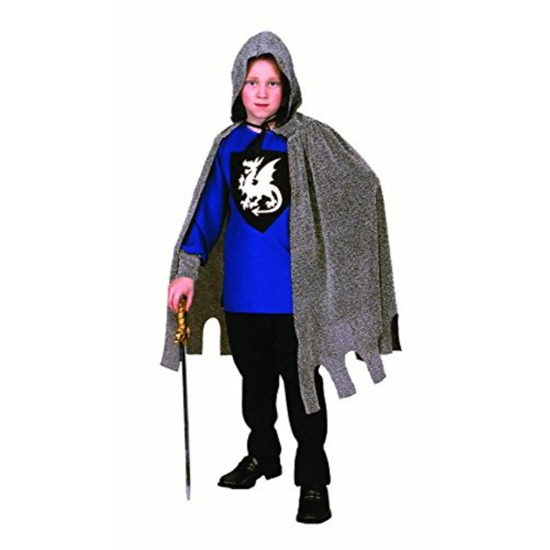 RG Costumes Medieval Knight Costume, Black/Silver/Blue, Large