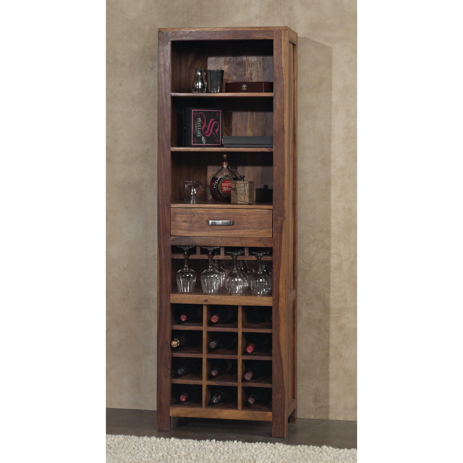 Modus Genus Solid Wood Wine Tower Honey by Modus Furniture