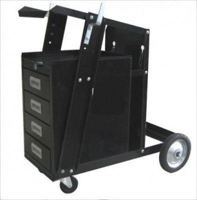 Mobile Arc Welder Tank Cart & Tool Box by