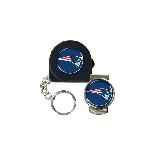 Great American Products Ktpmmc2018 6 Ft.  Tape Measure Key Chain & Money Clip Set- Nfl Patriots