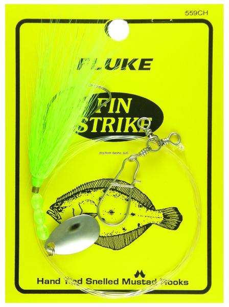 "9 per pack Chartreuse Fin Strike 4/"" Bucktail Teasers"